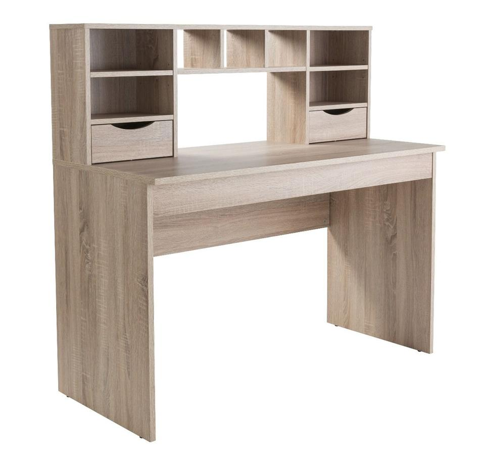 Allson Oak Computer Desk with Hutch
