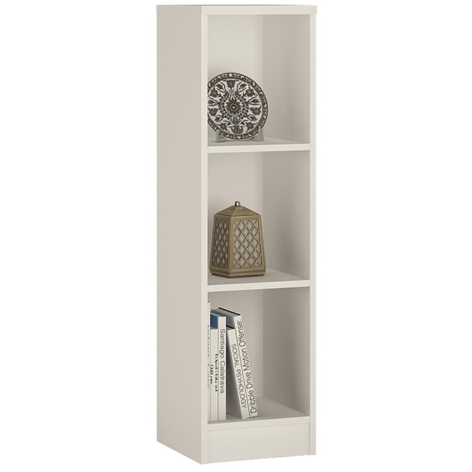 4 You Medium Narrow Bookcase in Sonama Oak/Pearl White/Canyon Grey