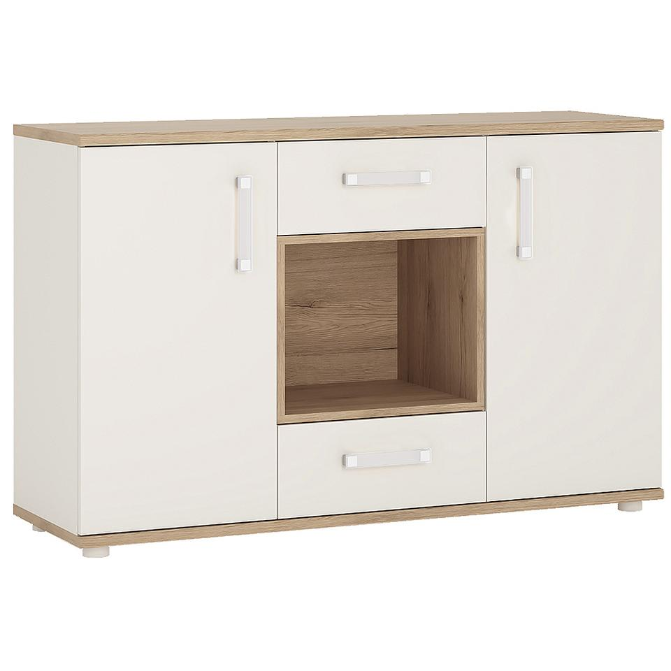 4KIDS 2 Door 2 Drawer Sideboard with Open Shelf