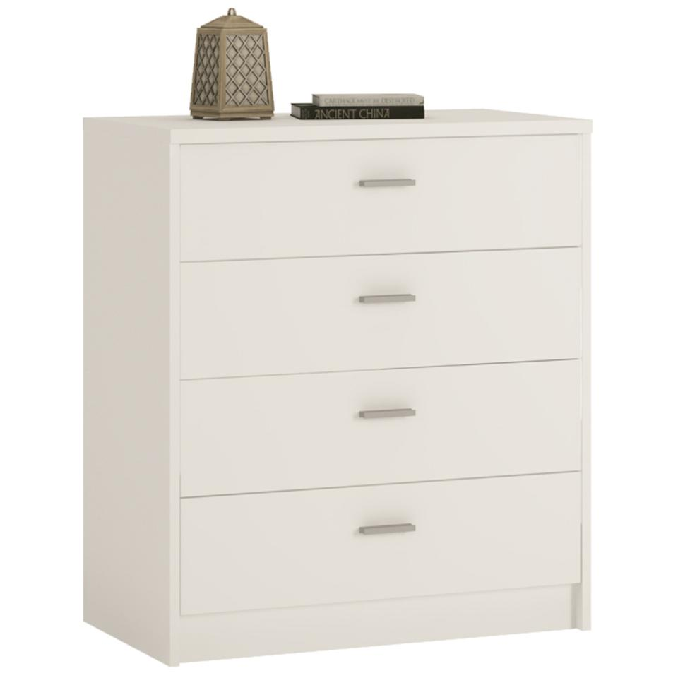 4 You 4 Drawer Chest in Sonama Oak/Pearl White/Canyon Grey and White