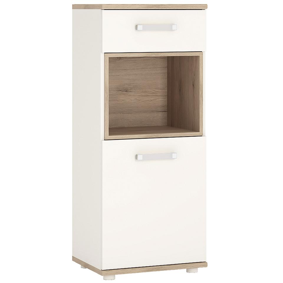4KIDS 1 Door 1 Drawer Narrow Cabinet