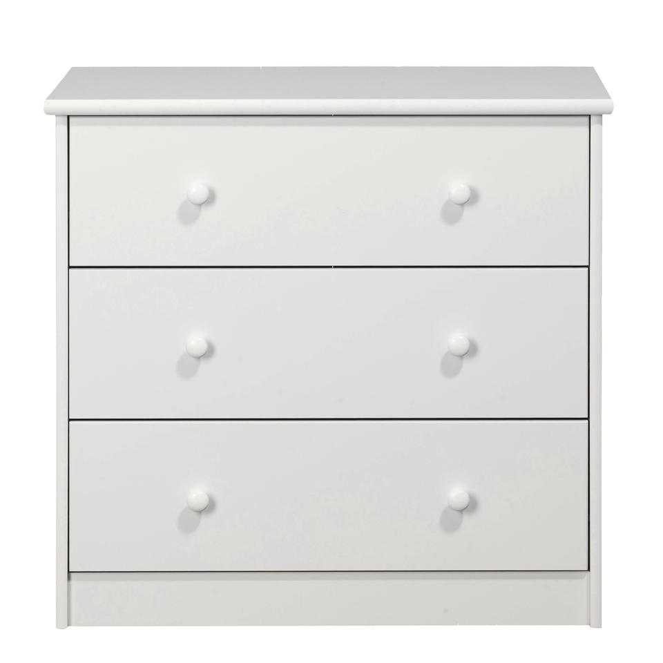 KIDS World 3 Drawer Chest White