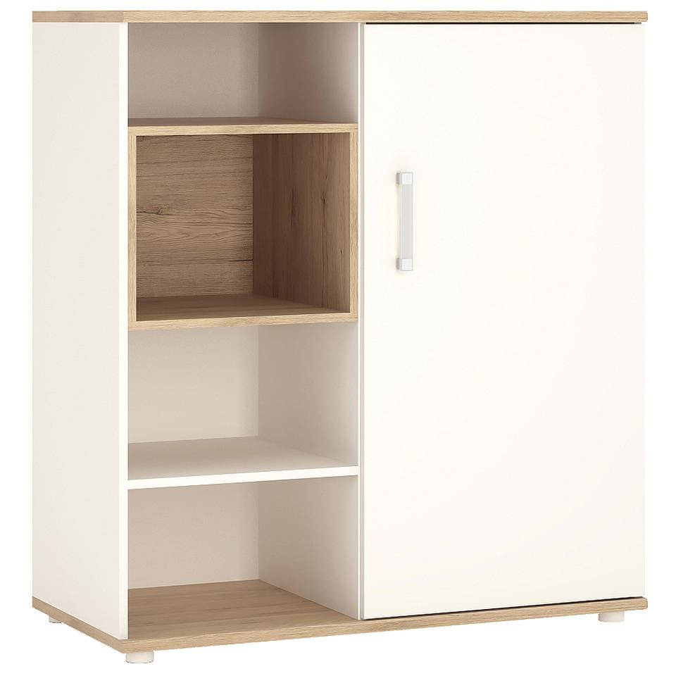 4KIDS Low cabinet with Shelves & Sliding Door