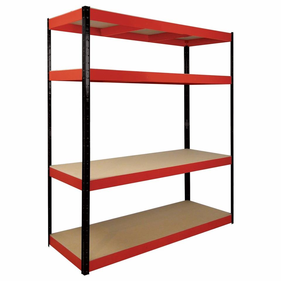 BOSS 4 Shelf Racking Kit Red & Black Frame