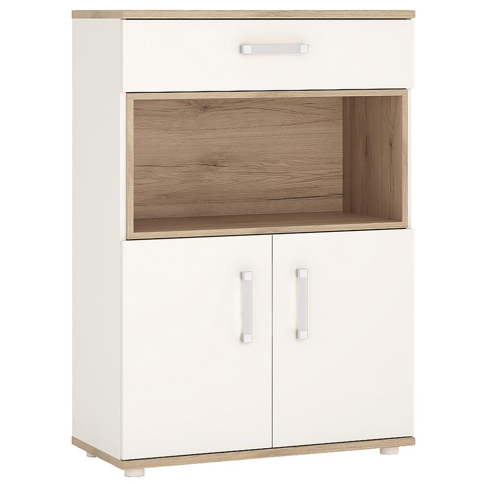 4KIDS 2 Door 1 Drawer Cupboard with Open Shelf