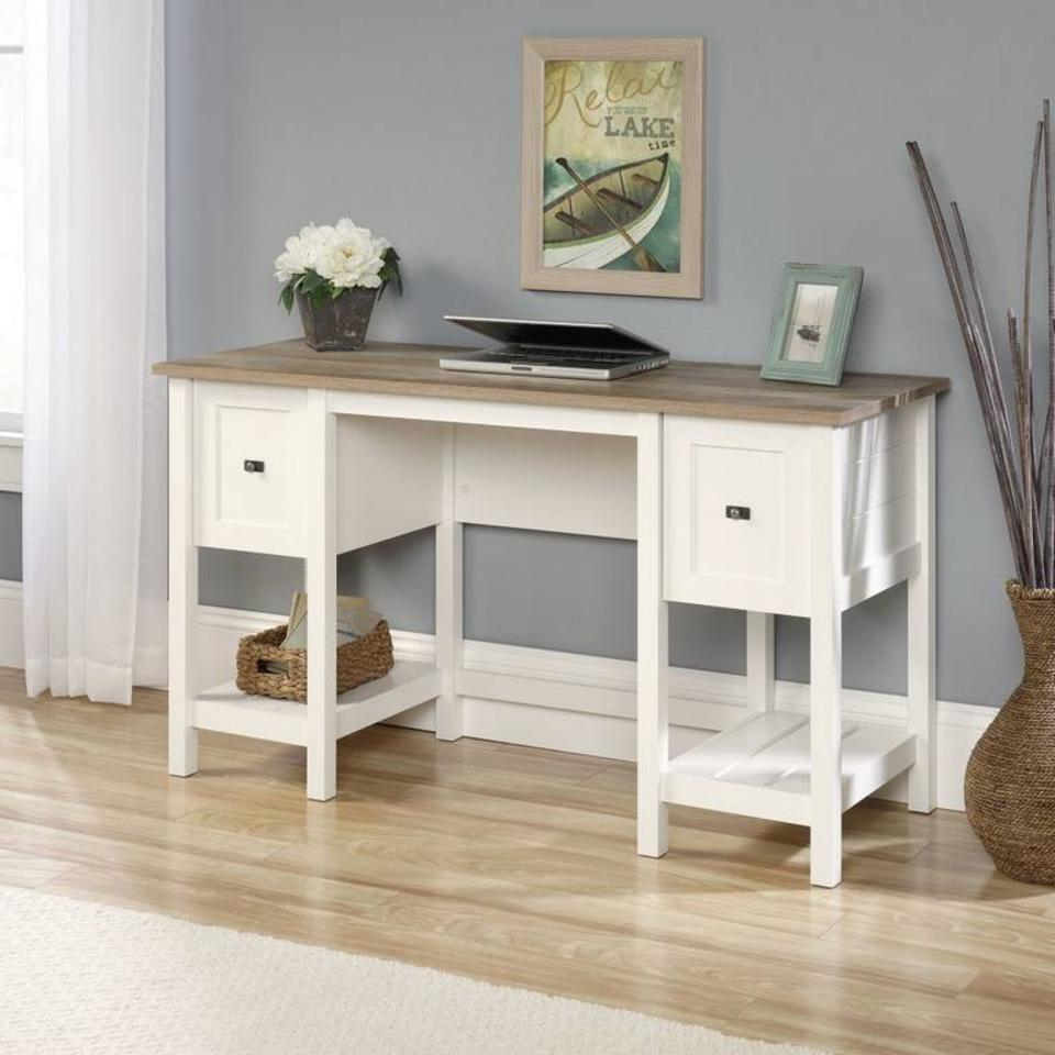 Teknika Shaker Style Desk in Soft White