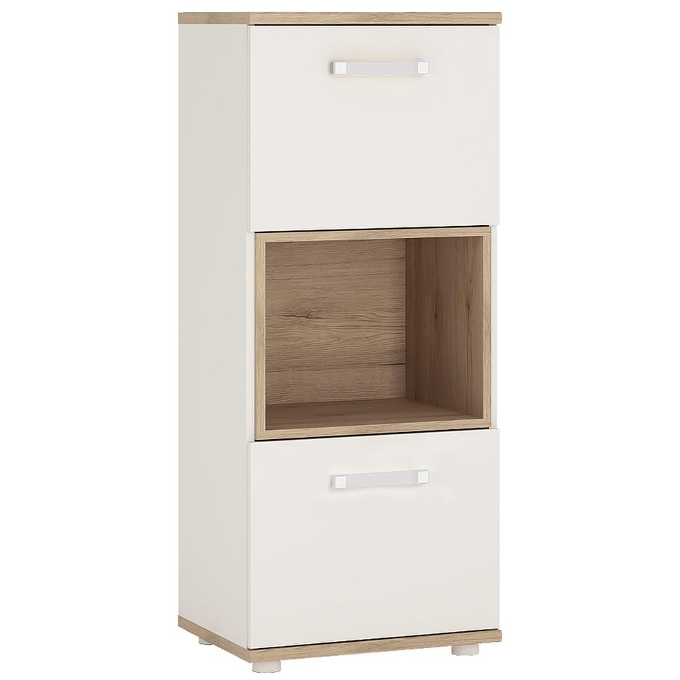 4KIDS 2 Door Narrow Cabinet with Open Shelf