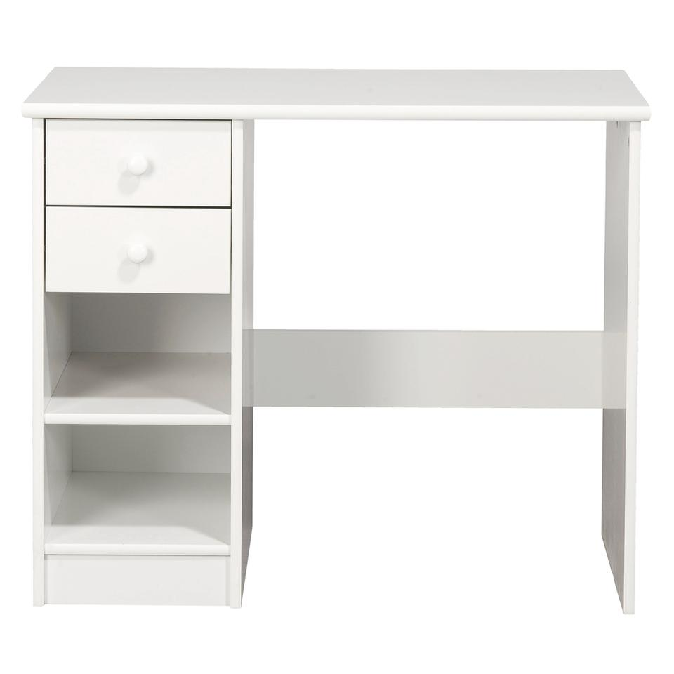 KIDS World 2 Drawer Desk White